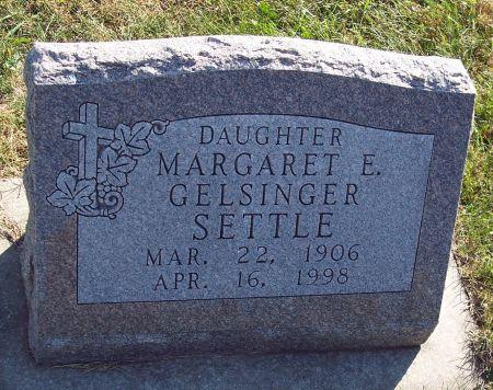 GELSINGER SETTLE, MARGARET E - Greene County, Iowa   MARGARET E GELSINGER SETTLE