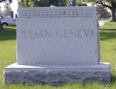 GENEVA, FAMILY MONUMENT - Greene County, Iowa | FAMILY MONUMENT GENEVA