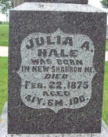 HALE, JULIA A - Greene County, Iowa | JULIA A HALE