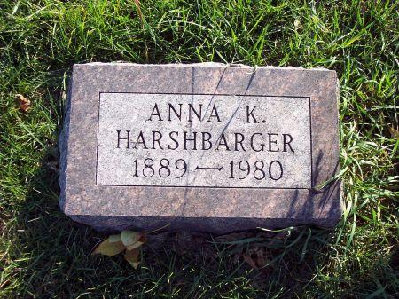 STEINBERG HARSHBARGER, ANNA KATHRYN - Greene County, Iowa | ANNA KATHRYN STEINBERG HARSHBARGER