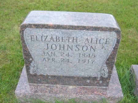 JOHNSON, ELIZABETH ALICE - Greene County, Iowa | ELIZABETH ALICE JOHNSON