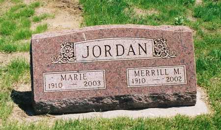 THUN JORDAN, MARIE - Greene County, Iowa   MARIE THUN JORDAN