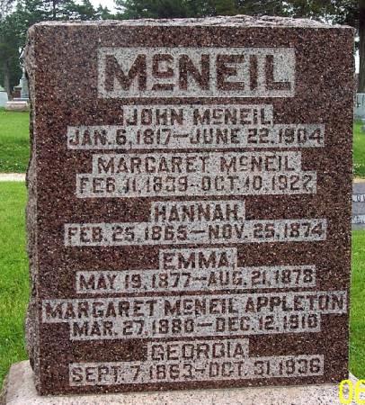 APPLETON, MARGARET - Greene County, Iowa   MARGARET APPLETON
