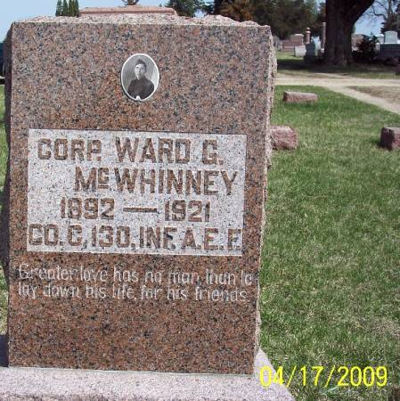 MCWHINNEY, WARD G - Greene County, Iowa | WARD G MCWHINNEY