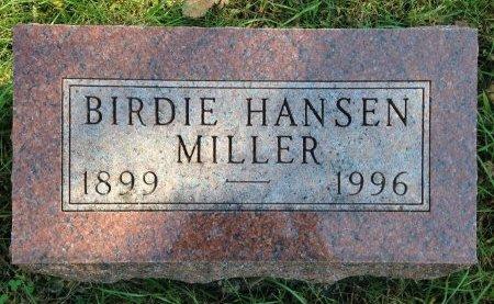 HANSEN MILLER, BIRDIE - Greene County, Iowa   BIRDIE HANSEN MILLER