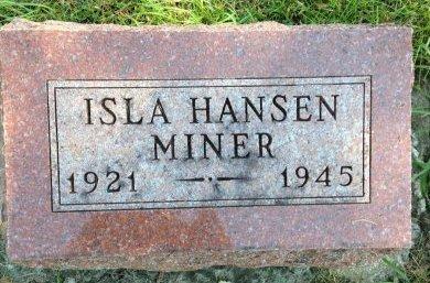 MINER, ISLA - Greene County, Iowa | ISLA MINER