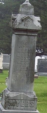 MCALLISTER MYERS, ALICE C - Greene County, Iowa | ALICE C MCALLISTER MYERS