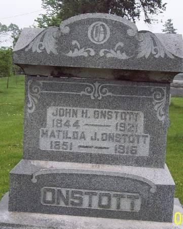 BICKETT ONSTOTT, MATILDA J - Greene County, Iowa   MATILDA J BICKETT ONSTOTT