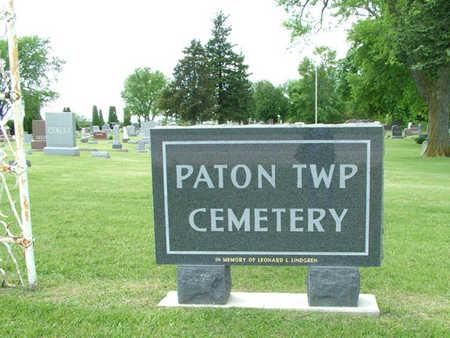 PATON TWP., CEMETERY - Greene County, Iowa | CEMETERY PATON TWP.