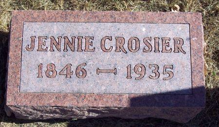 PLUM CROSIER, JENNIE - Greene County, Iowa   JENNIE PLUM CROSIER