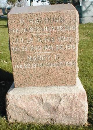 RAYBURN, P. - Greene County, Iowa   P. RAYBURN
