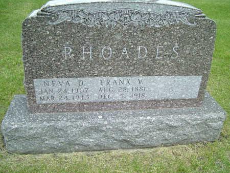 RHOADES, FRANK V. - Greene County, Iowa | FRANK V. RHOADES