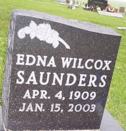 WILCOX SAUNDERS, EDNA - Greene County, Iowa   EDNA WILCOX SAUNDERS