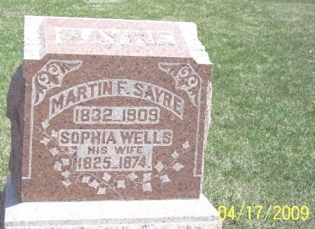 WELLS SAYRE, SOPHIA - Greene County, Iowa   SOPHIA WELLS SAYRE