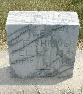 SHRIVER, ANNIE - Greene County, Iowa   ANNIE SHRIVER