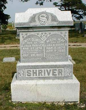 SHRIVER, MAUD MAY - Greene County, Iowa | MAUD MAY SHRIVER