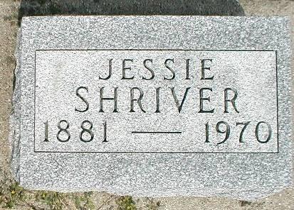 SHRIVER, JESSIE ANNABELLE - Greene County, Iowa   JESSIE ANNABELLE SHRIVER