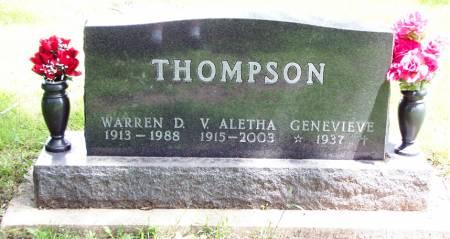 THOMPSON, WARREN DANIEL - Greene County, Iowa | WARREN DANIEL THOMPSON