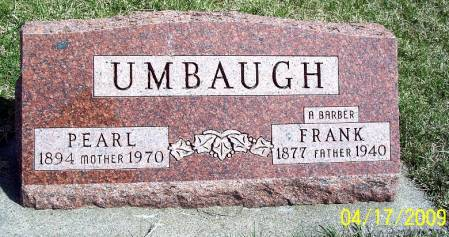 ELLSWORTH UMBAUGH, MARGARET PEARL - Greene County, Iowa   MARGARET PEARL ELLSWORTH UMBAUGH
