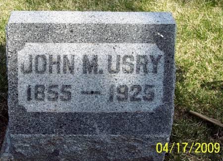 USRY, JOHN M - Greene County, Iowa   JOHN M USRY