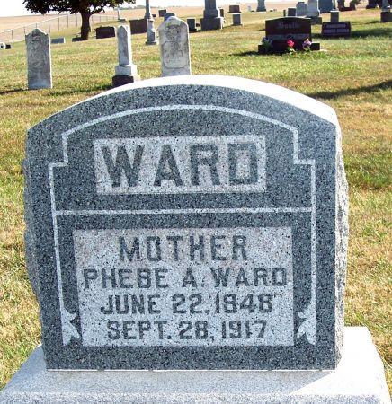 WARD, PHEBE A - Greene County, Iowa   PHEBE A WARD
