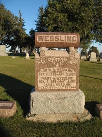 ROCKENBACH WESSLING, JULIA A - Greene County, Iowa   JULIA A ROCKENBACH WESSLING