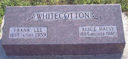 WHITECOTTON, ALICE DAISY - Greene County, Iowa   ALICE DAISY WHITECOTTON