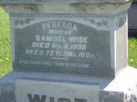 HIGHLY WISE, REBECCA - Greene County, Iowa | REBECCA HIGHLY WISE