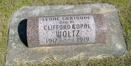 WOLTZ, LEONE GERTRUDE - Greene County, Iowa   LEONE GERTRUDE WOLTZ