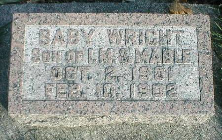 WRIGHT, BABY - Greene County, Iowa   BABY WRIGHT