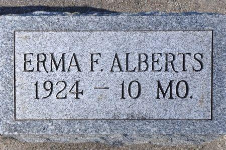 ALBERTS, ERMA F. - Grundy County, Iowa   ERMA F. ALBERTS