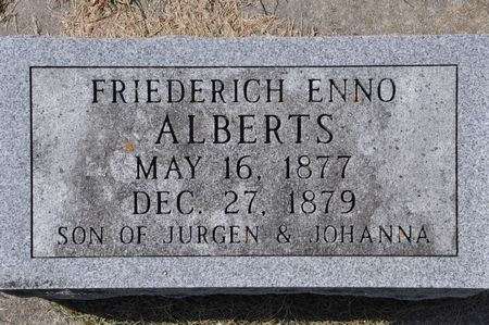 ALBERTS, FRIEDERICH ENNO - Grundy County, Iowa | FRIEDERICH ENNO ALBERTS