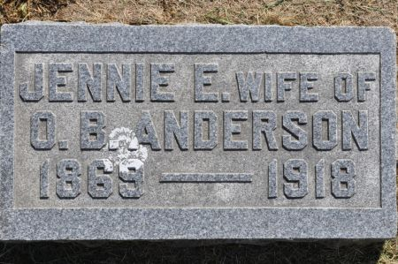 ANDERSON, JENNIE E. - Grundy County, Iowa | JENNIE E. ANDERSON