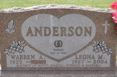 ANDERSON, LEONA M. - Grundy County, Iowa   LEONA M. ANDERSON