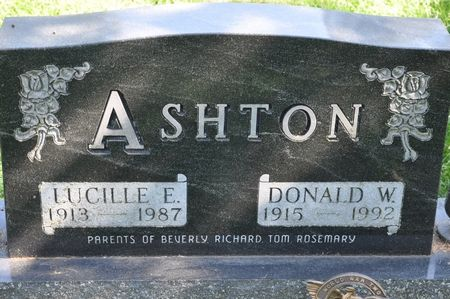 ASHTON, DONALD W. - Grundy County, Iowa   DONALD W. ASHTON