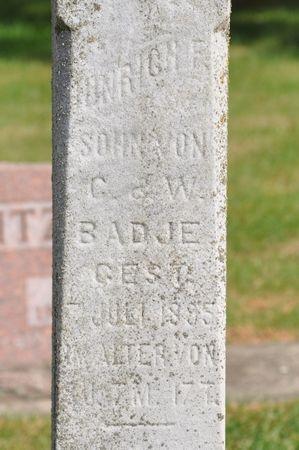 BADJE, HINRICH F. - Grundy County, Iowa | HINRICH F. BADJE