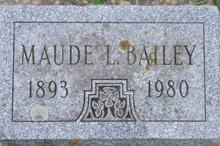 BAILEY, MAUDE L. - Grundy County, Iowa | MAUDE L. BAILEY