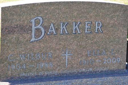 BAKKER, C. WILBUR - Grundy County, Iowa   C. WILBUR BAKKER