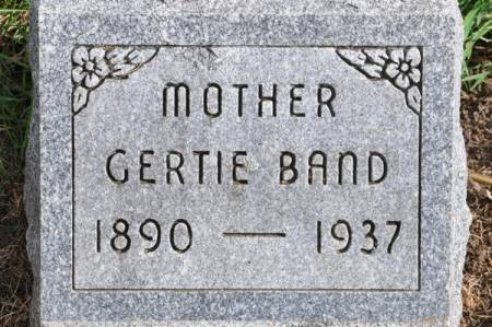 BAND, GERTIE - Grundy County, Iowa | GERTIE BAND