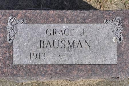 BAUSMAN, GRACE J. - Grundy County, Iowa   GRACE J. BAUSMAN