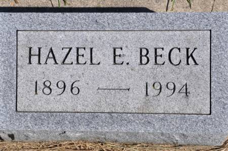 BECK, HAZEL E. - Grundy County, Iowa | HAZEL E. BECK
