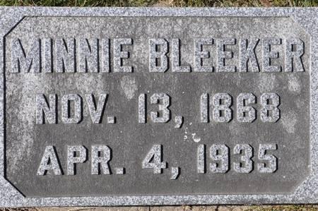 BLEEKER, MINNIE - Grundy County, Iowa   MINNIE BLEEKER