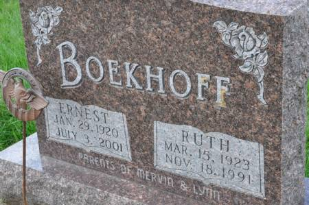 BOEKHOFF, ERNEST - Grundy County, Iowa   ERNEST BOEKHOFF