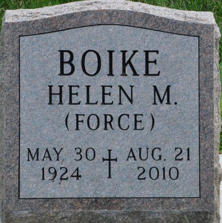 BOIKE, HELEN M. (FORCE) - Grundy County, Iowa | HELEN M. (FORCE) BOIKE