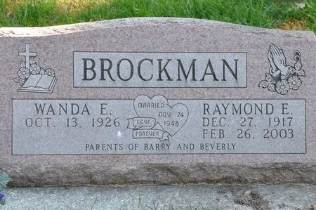 BROCKMAN, RAYMOND E. - Grundy County, Iowa   RAYMOND E. BROCKMAN