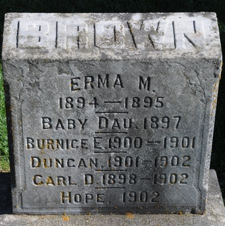 BROWN, CARL D. - Grundy County, Iowa   CARL D. BROWN