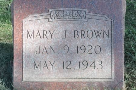 BROWN, MARY J. - Grundy County, Iowa | MARY J. BROWN