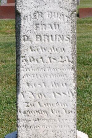 BRUNS, D. - Grundy County, Iowa | D. BRUNS