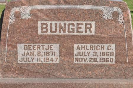 BUNGER, AHLRICH C. - Grundy County, Iowa | AHLRICH C. BUNGER