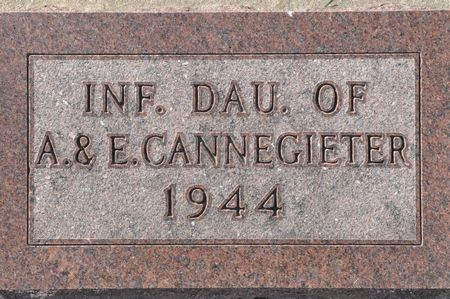 CANNEGIETER, INFANT DAUGHTER OF A. & E. - Grundy County, Iowa   INFANT DAUGHTER OF A. & E. CANNEGIETER
